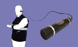 operatore con camera